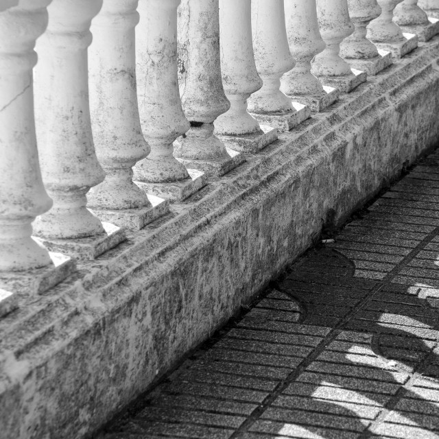 """""""Lights and shadows in a balustrade"""" stock image"""