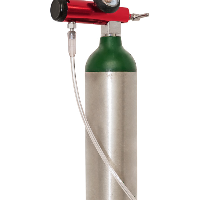 """Portable Oxygen Cylinder For Medical Use"" stock image"