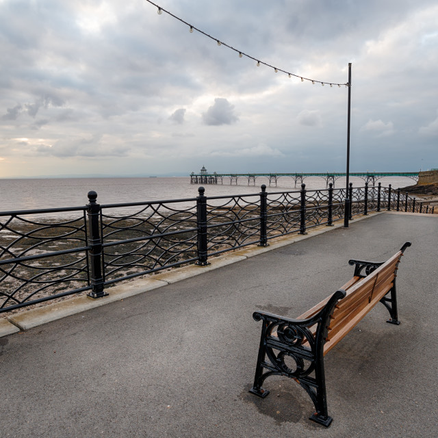"""""""Clevedon Seafront"""" stock image"""