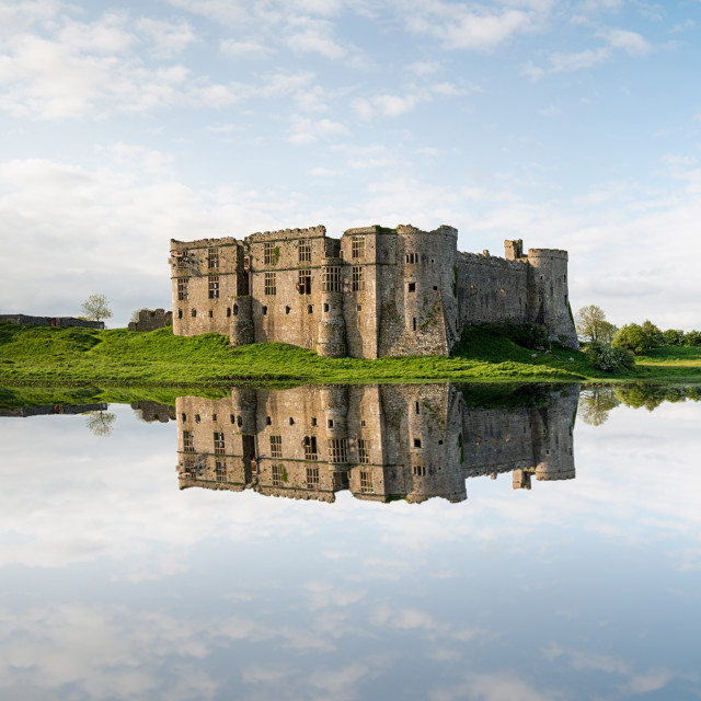 """Castle Carew in Wales"" stock image"