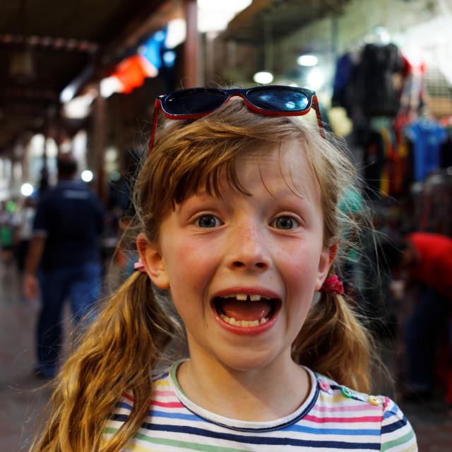 """""""Girl in Souk"""" stock image"""