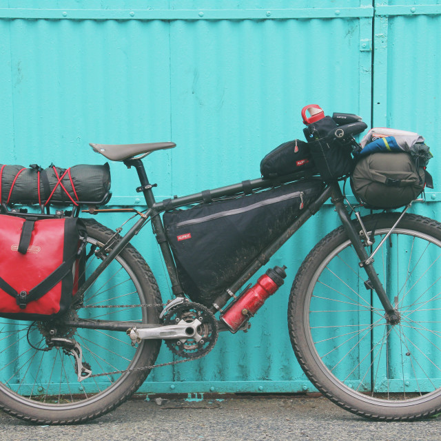 """Bikepacking Bike"" stock image"
