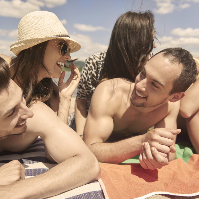 """""""Funny moments during the summer"""" stock image"""