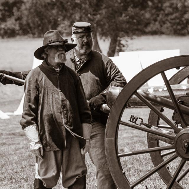 """Civil War Re-enactors"" stock image"
