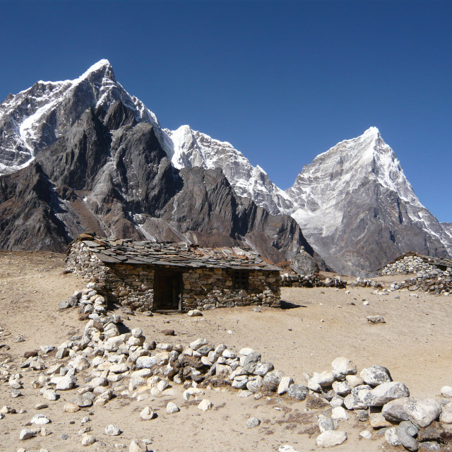 """Herder's hut, Everest region, Nepal"" stock image"