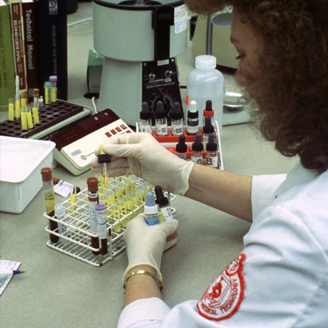 """Hematologist (Blood Technician)"" stock image"