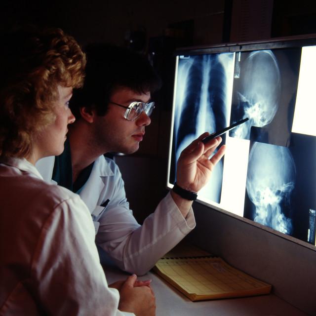 """""""X-Ray Examined"""" stock image"""