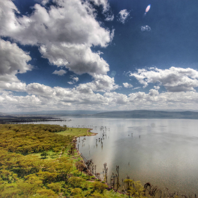 """A view of Lake Nakuru"" stock image"