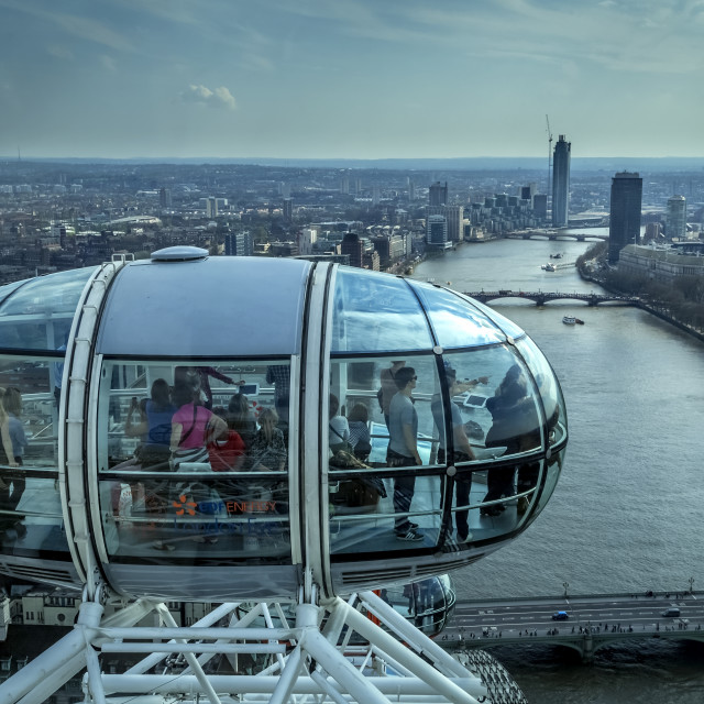 """""""View of London city from ' London Eye '."""" stock image"""