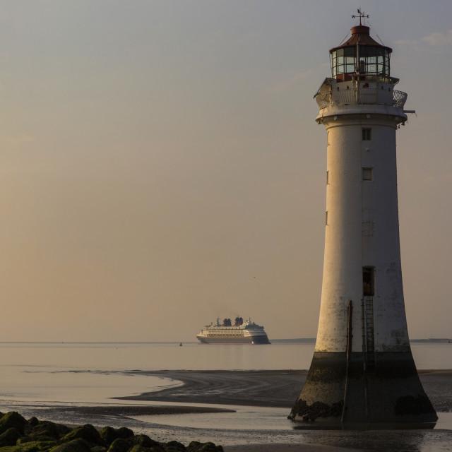 """""""Disney Magic Cruise Liner Lighthouse"""" stock image"""