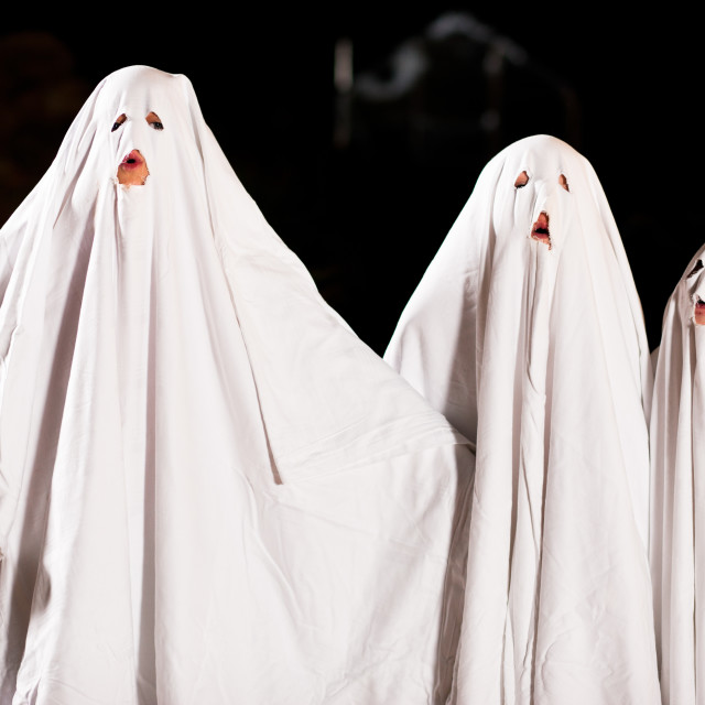 """""""Very scary spooks on Halloween"""" stock image"""