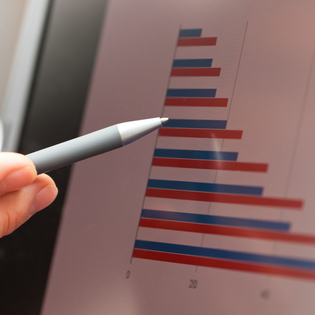 """""""Pen, graph and screen"""" stock image"""