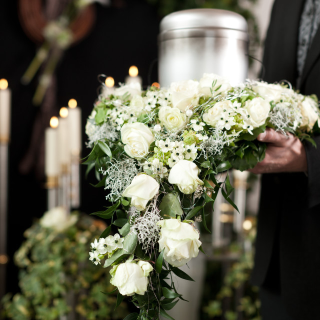 """Grief - Funeral and cemetery"" stock image"