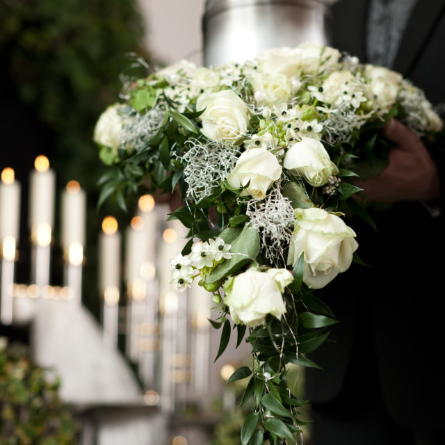 """""""Grief - Funeral and cemetery"""" stock image"""