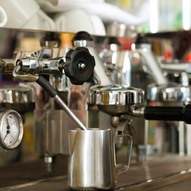 """""""Coffee machine in cafe or bar"""" stock image"""