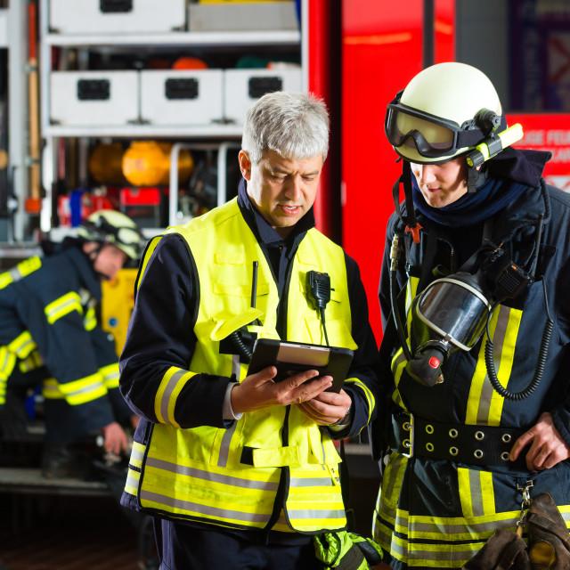 """Fire brigade deployment planning"" stock image"