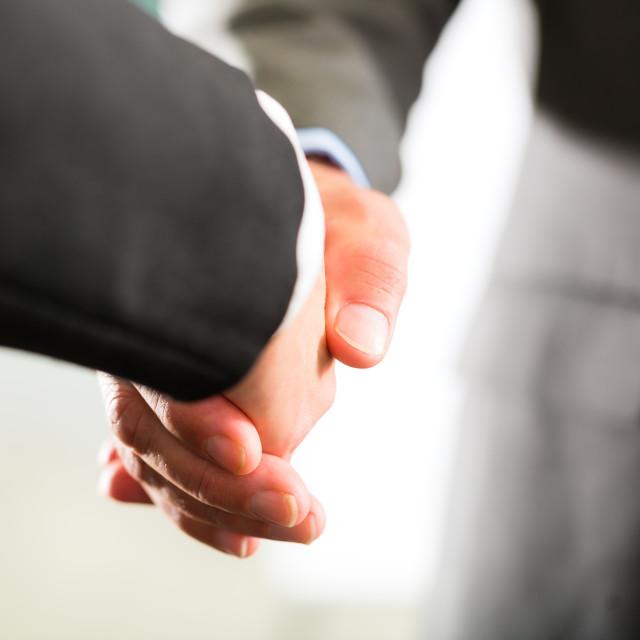 """""""Business people doing Handshake"""" stock image"""