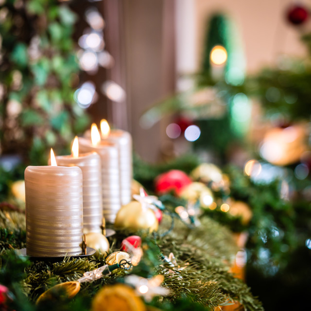 """Christmas home decoration for Advent"" stock image"