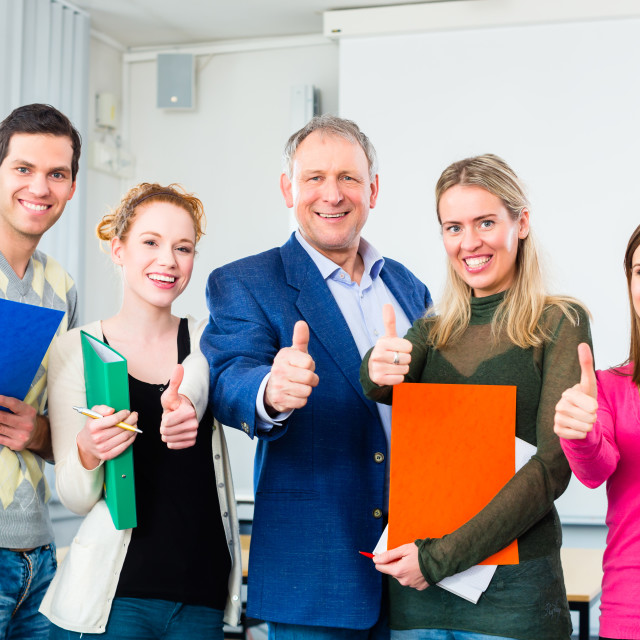 """College students passed examination"" stock image"