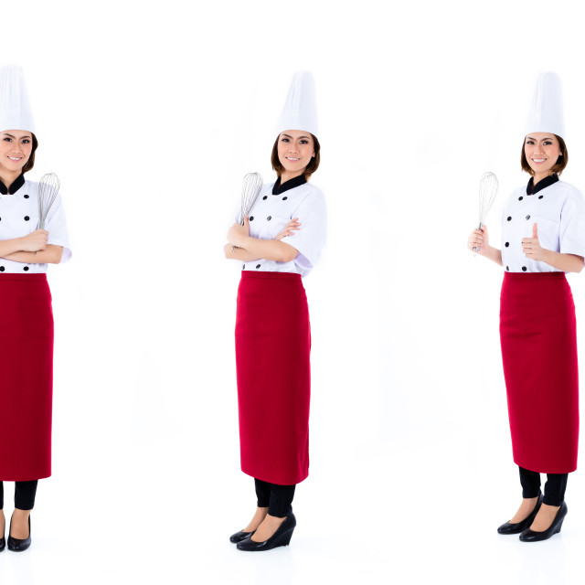 """""""Asian chef woman isolated occupation series"""" stock image"""