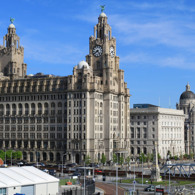 """Liverpool 3 Graces"" stock image"