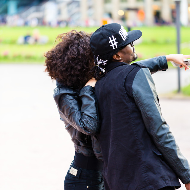 """""""Young African American couple doing sightseeing"""" stock image"""
