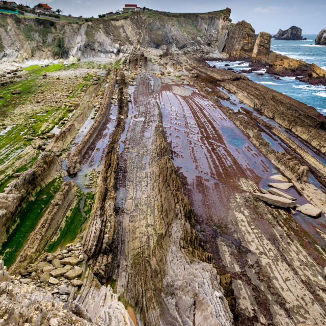"""Low tide in the Cantabrian Sea"" stock image"
