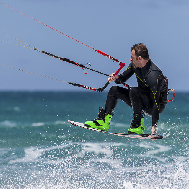 """""""A kiteboarder"""" stock image"""