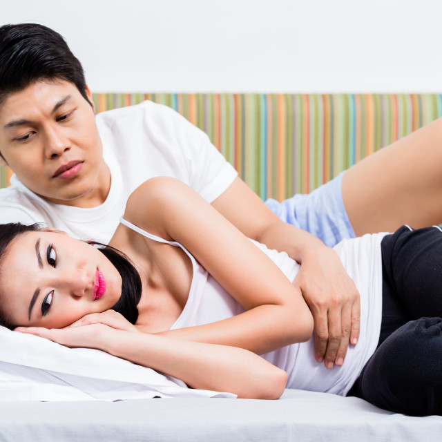 """Chinese couple having marital issues heading for divorce"" stock image"