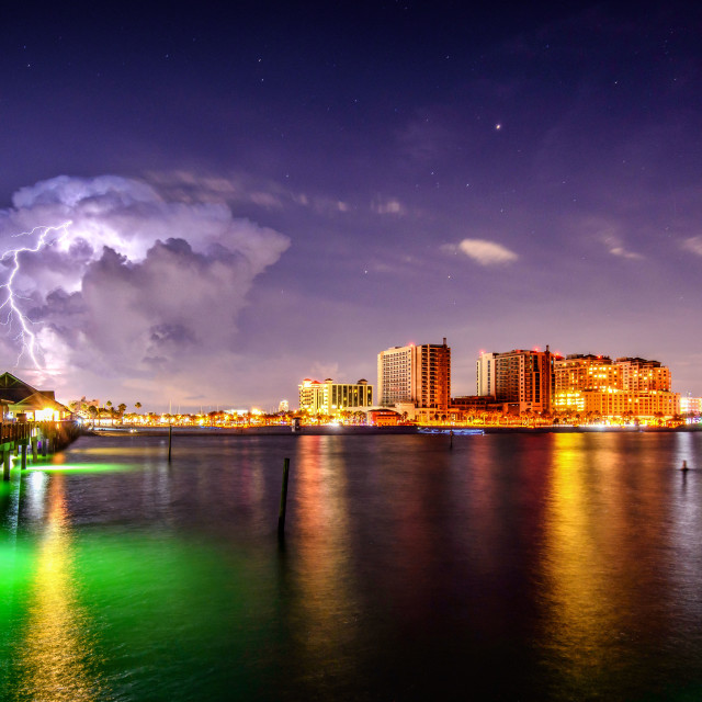 """Storm Behind Clearwater Beach"" stock image"