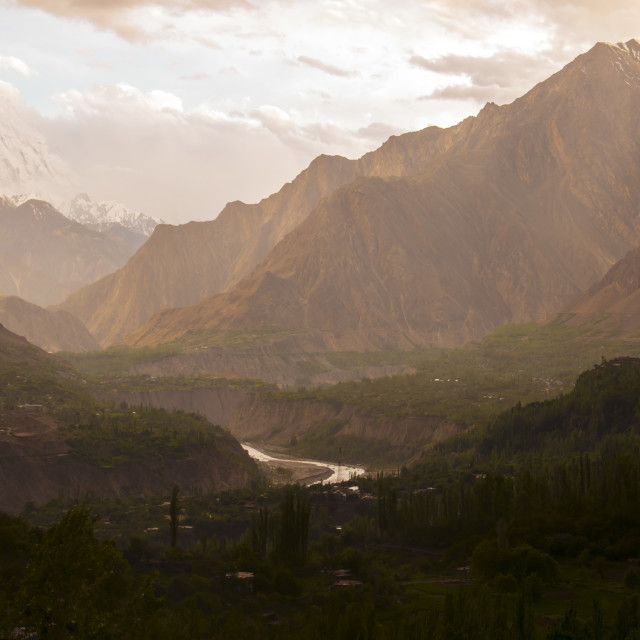 """Hunza Valley"" stock image"