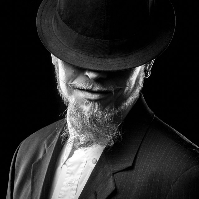 """""""Man with Hat and Beard"""" stock image"""