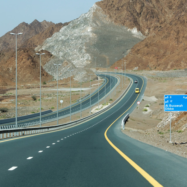 """""""Driving in the UAE"""" stock image"""