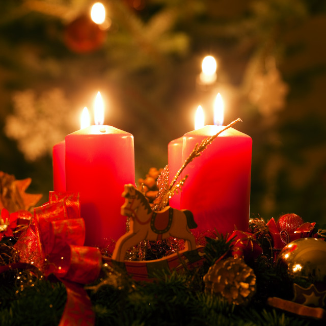 """Advent Wreath"" stock image"