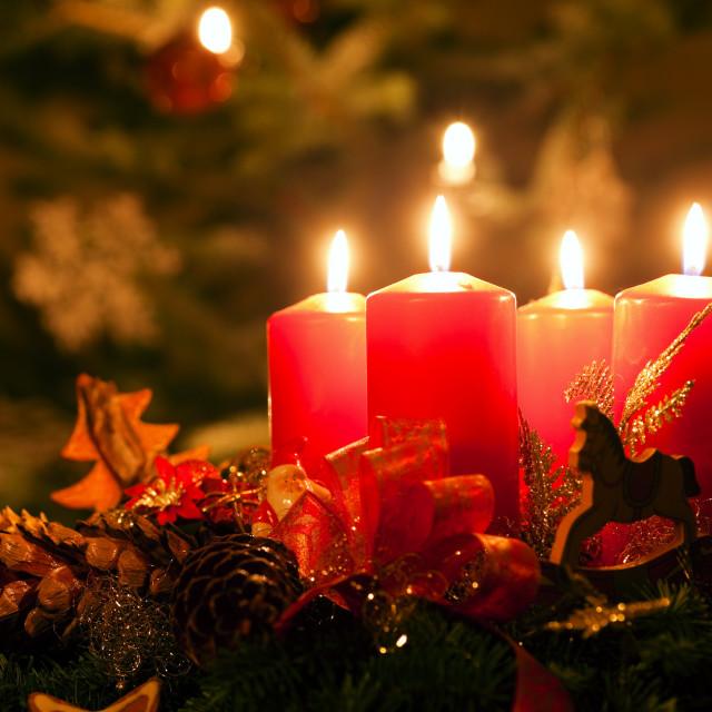 """""""Advent Wreath"""" stock image"""