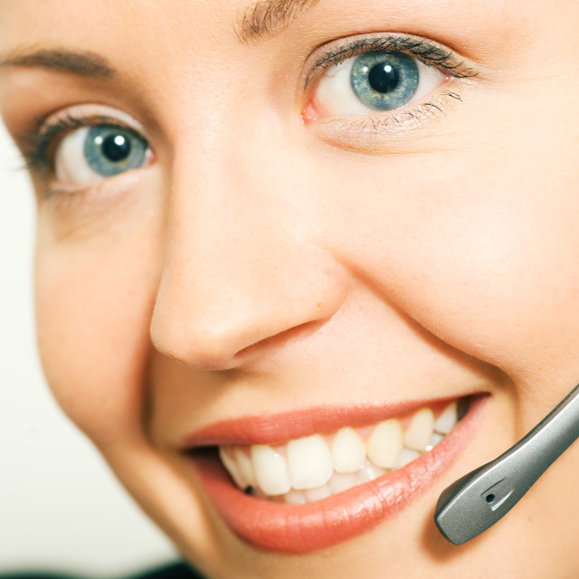 """Call center operator"" stock image"