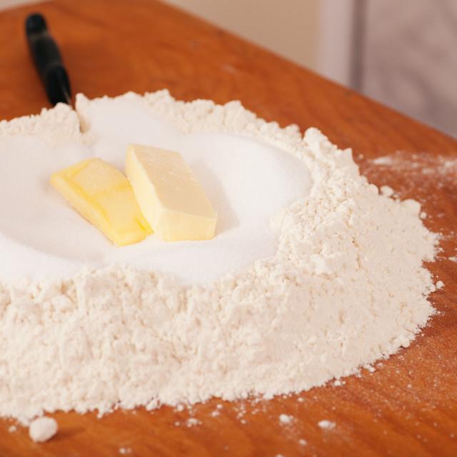 """Ingredients for baking"" stock image"