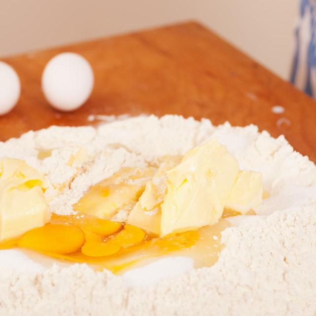"""Baking biscuits - Ingredients"" stock image"