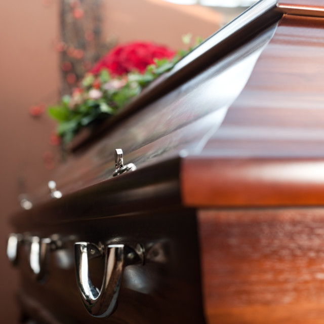 """Funeral with coffin"" stock image"