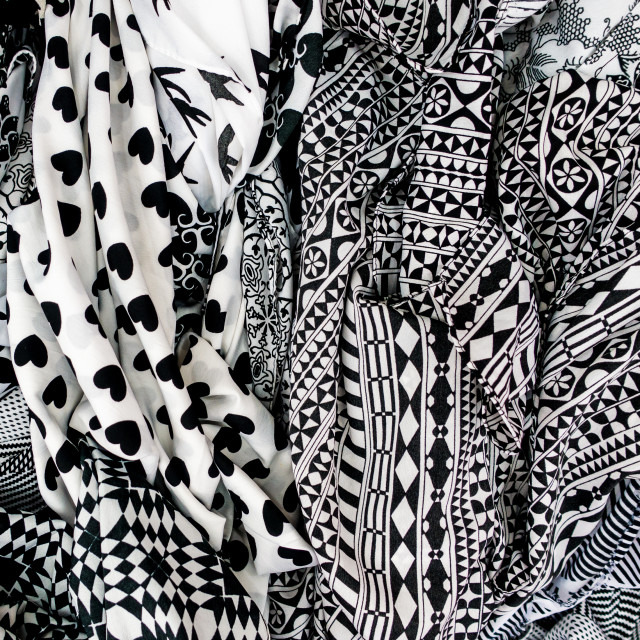 """Black and White Patterns"" stock image"