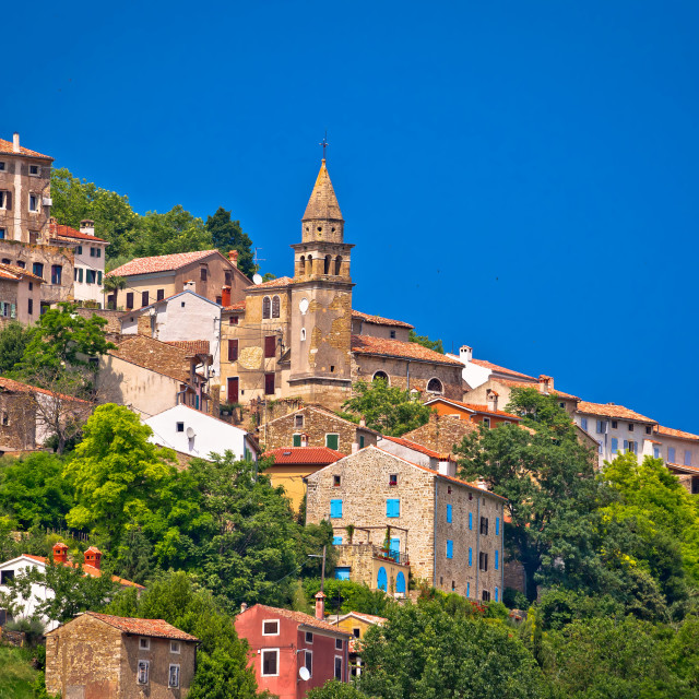 """Town of Motovun old mediterranean architecture"" stock image"