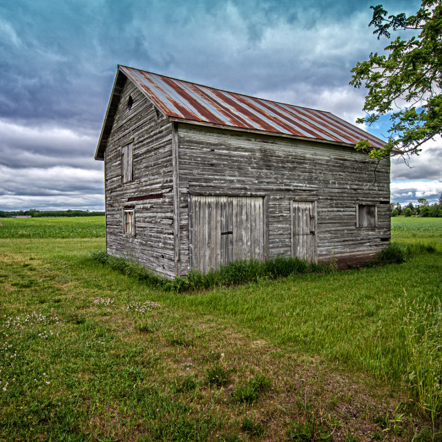 """Weathered Granary"" stock image"