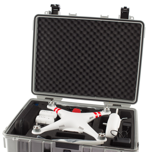 """""""Little drone isolated over white background"""" stock image"""
