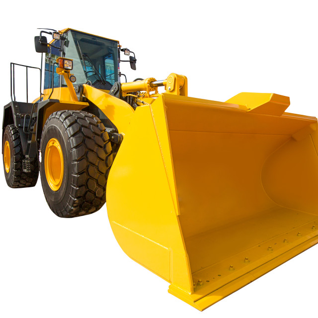 """Wheel Loader excavator construction machinery equipment isolated"" stock image"