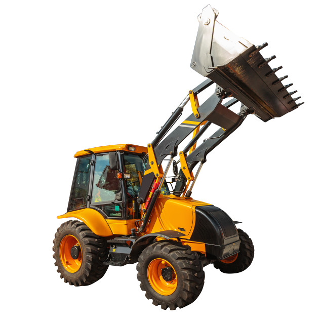 """""""Loader excavator construction machinery isolated with clipping p"""" stock image"""