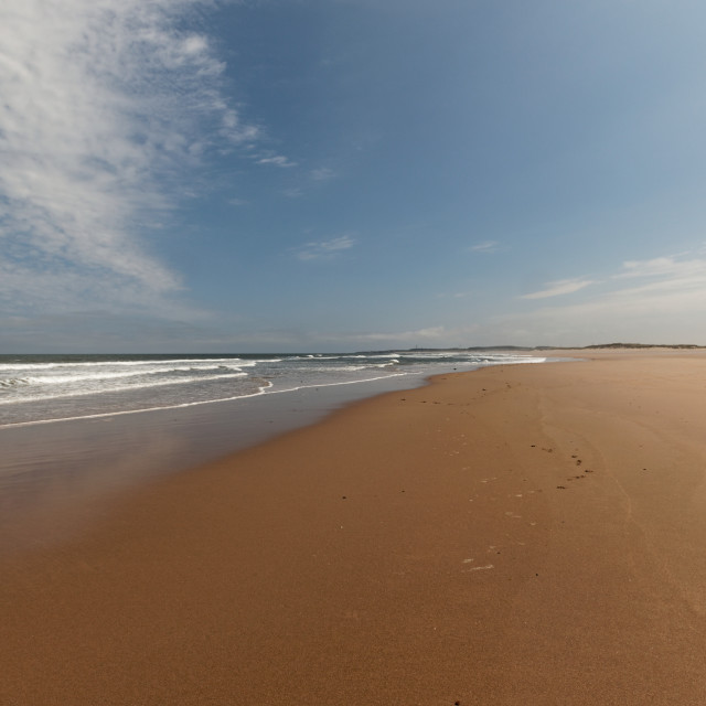 """Druridge Bay, Northumberland"" stock image"