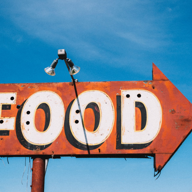 """Food Sign"" stock image"