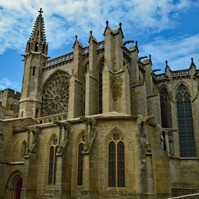 """""""Cathedral St Nazaire, Carcassonne Medieval City"""" stock image"""