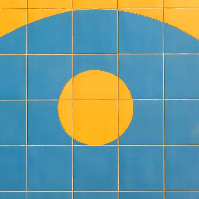 """Decor Tiles Sunrise Wall"" stock image"