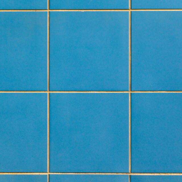 """Decor Tiles Blue Wall"" stock image"